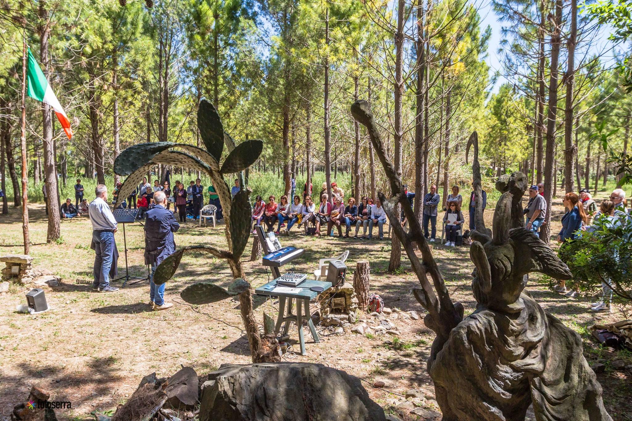 1ª TAPPA Poeti al Parco artistico Gianni Argiolas Dolianova (Cagliari)