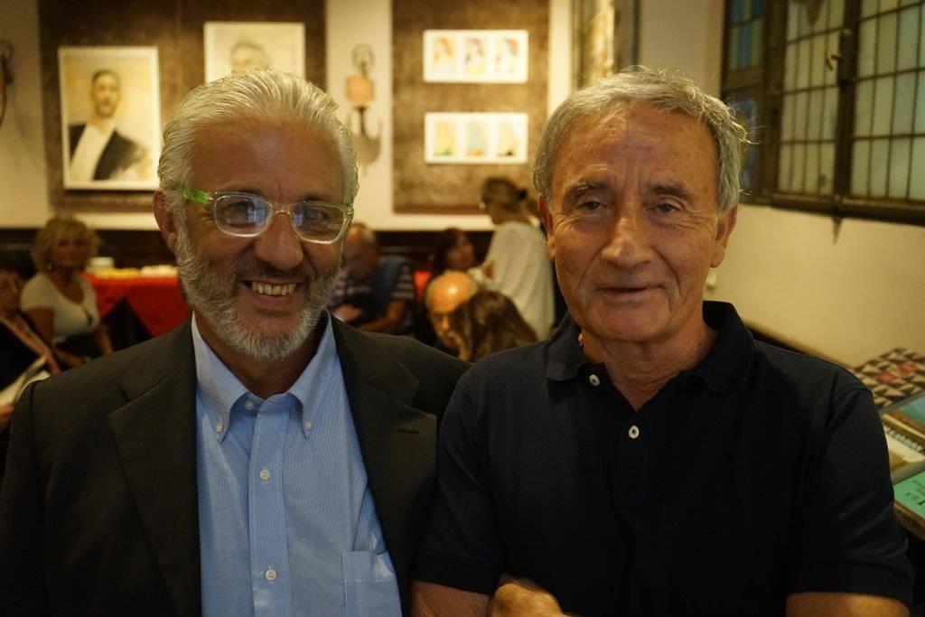 2ª TAPPA Diego De Nadai organizzatore e attore e Jacopo Chiostri Direttore de Le Giubbe Rosse di Firenze
