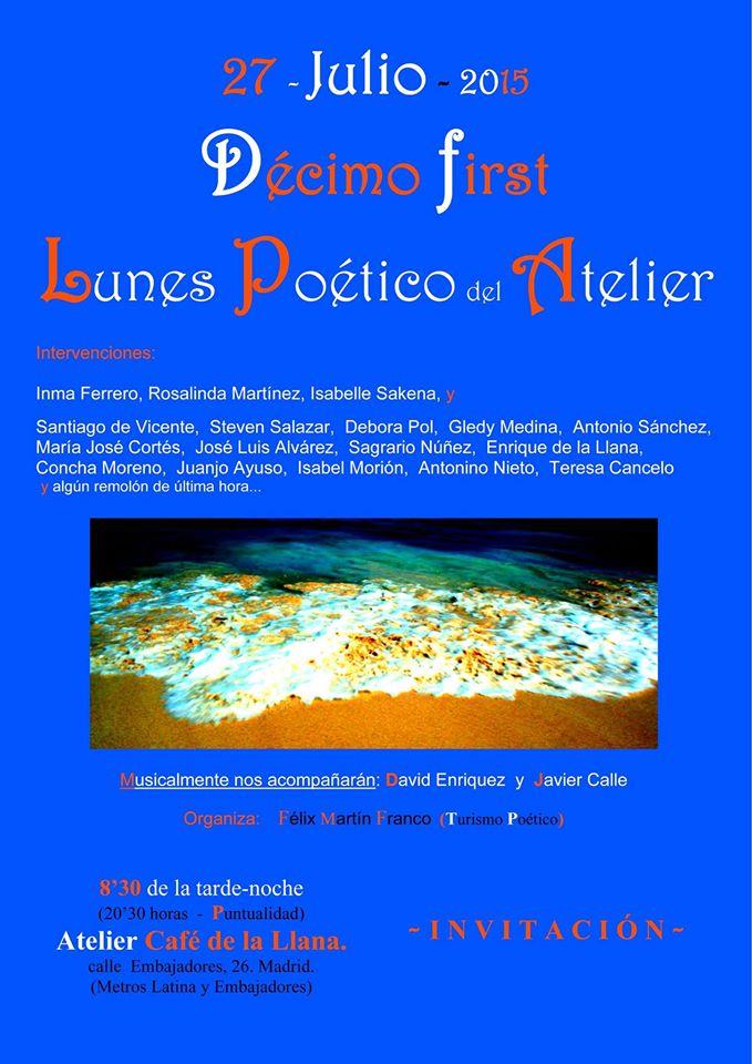 Lunes poéticos del Atelier